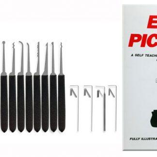 5 piece lockpicking set with book