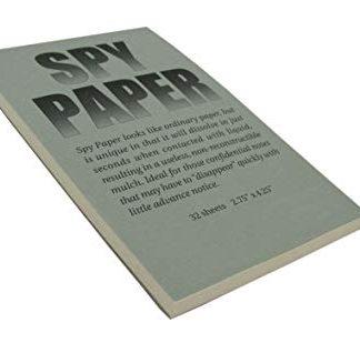 DISSOLVING SPY PAPER