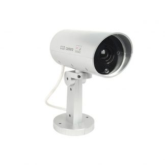 Indoor or outdoor motion activated dummy camera w/ red LED light