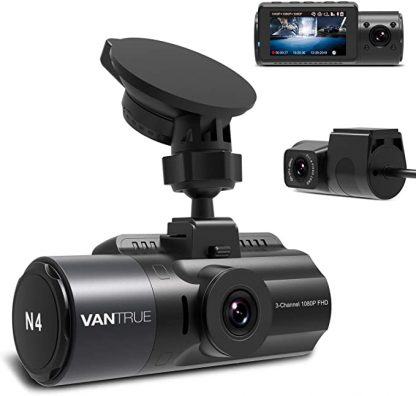Vantrue N4 3-Channel Dash Cam for Front, Inside and Rear Recording