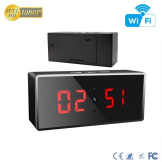 HD 1080P IR Desk Clock Wi-Fi Security Camera
