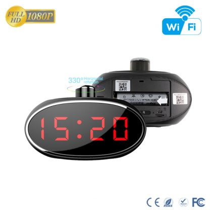 HD 1080P Desk Clock Wi-Fi Camera