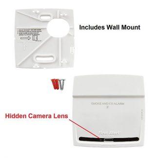 Smoke & CO Alarm Hidden Wi-Fi Camera - Designer Style