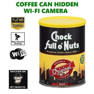 Coffee Can Hidden Wi-Fi Camera