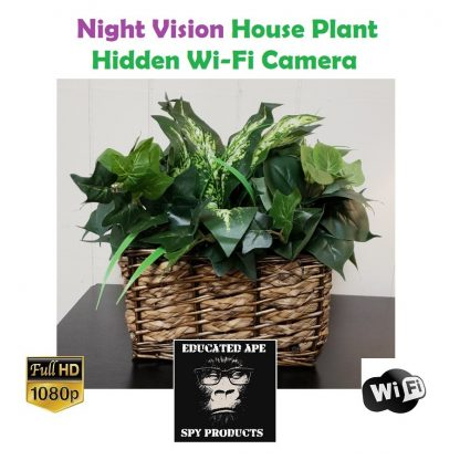 Night Vision House Plant Hidden Wi-Fi Camera