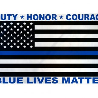 Blue Lives Matter Flag 3x5ft