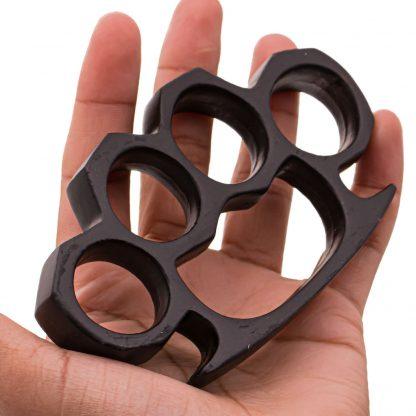 4.5 Inch Long Steel Knuckle Duster Black