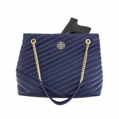 Flora Conceal Carry Handbag - Blue