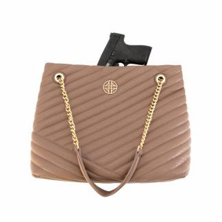 Flora Conceal Carry Handbag - Beige