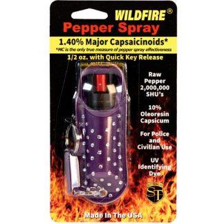 WildFire 1.4% MC 1/2 oz Halo Rhinestone Holster Purple