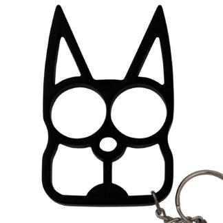 Cat Public Safety Keychain Black