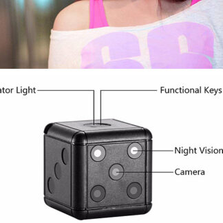 1080P Mini Camcorder Night Vision Action Camera Sq16 Dice Mini Camera (sq16)