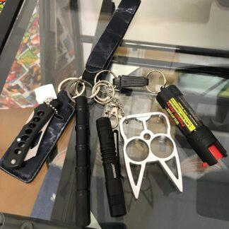 Safety Keychain Set Black